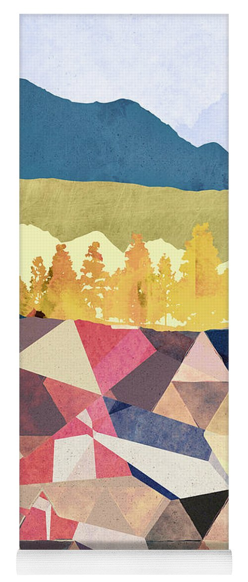 Fall Yoga Mat featuring the digital art Fall Afternoon Light by Spacefrog Designs