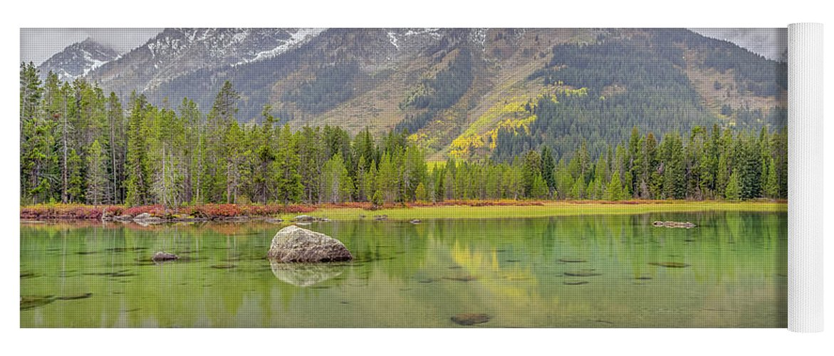 Adventure Yoga Mat featuring the photograph Fall Morning Along String Lake by Scott McGuire