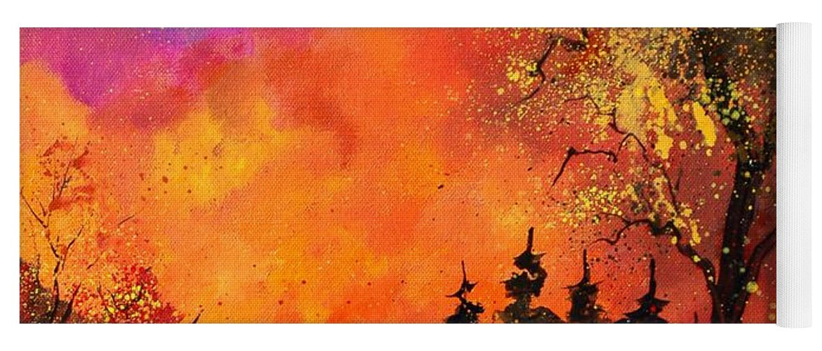 River Yoga Mat featuring the painting Fall by Pol Ledent