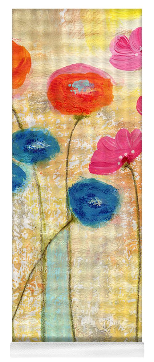 Flowers Yoga Mat featuring the painting Falling For You- Floral Art By Linda Woods by Linda Woods