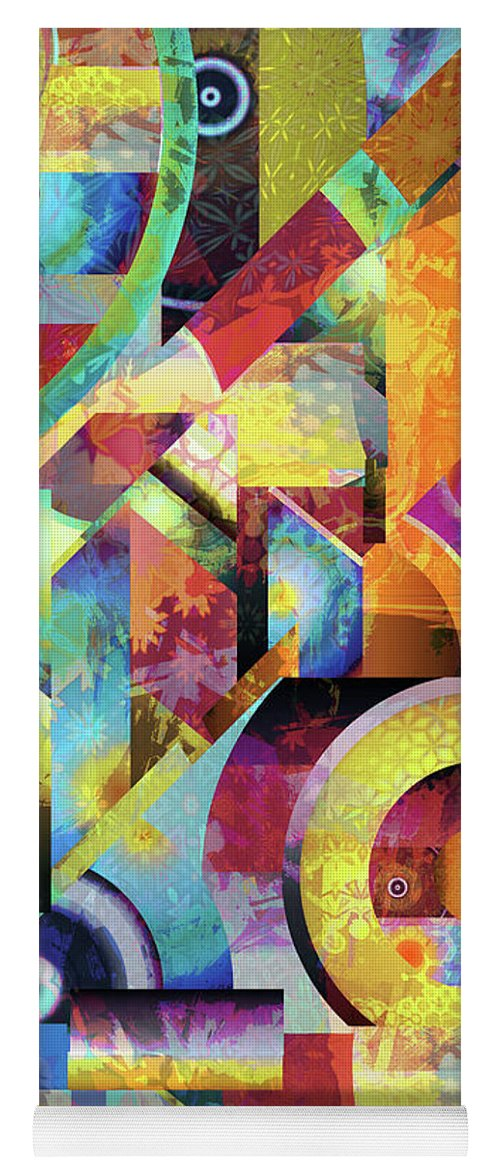 Abstract Yoga Mat featuring the digital art Fantasy by Grace Iradian