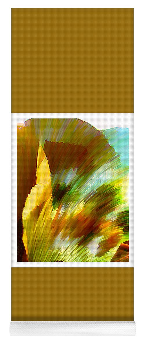 Landscape Digital Art Watercolor Water Color Mixed Media Yoga Mat featuring the digital art Feather by Anil Nene