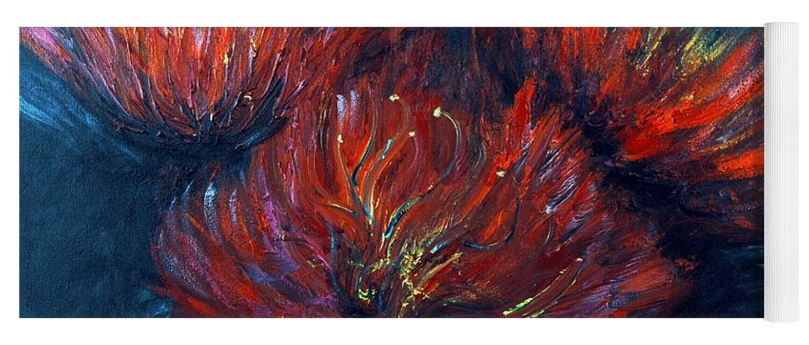Abstract Yoga Mat featuring the painting Fellowship by Nadine Rippelmeyer