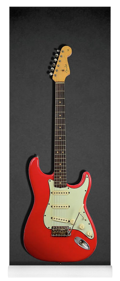 Fender Stratocaster Yoga Mat featuring the photograph Fender Stratocaster 63 by Mark Rogan