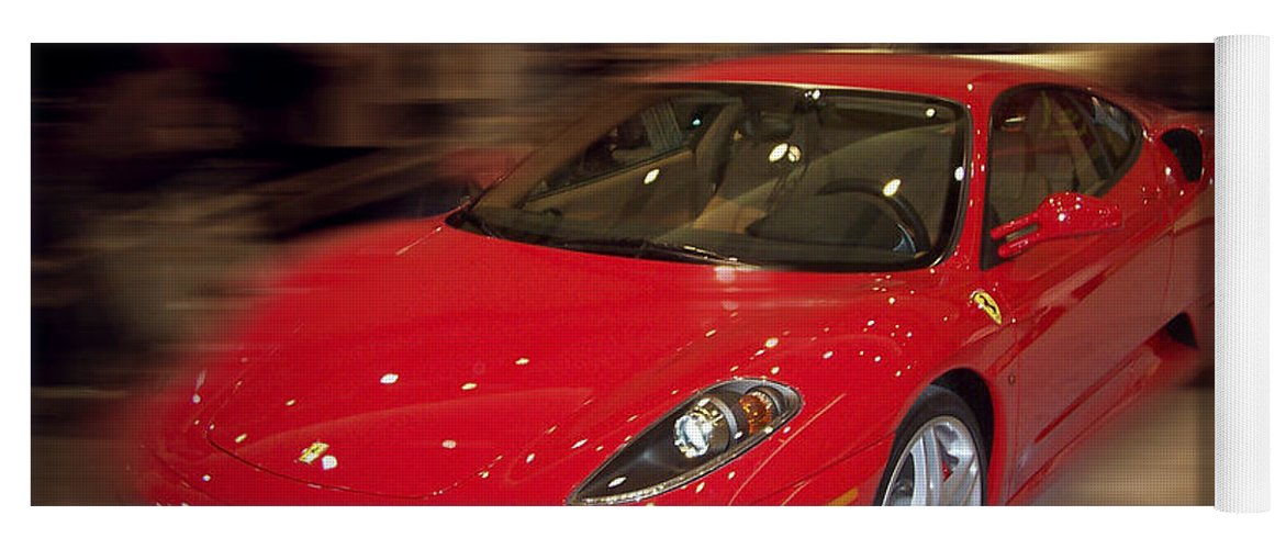 �auto Corner� Collection By Serge Averbukh Yoga Mat featuring the photograph Ferrari F430 - The Red Beast by Serge Averbukh