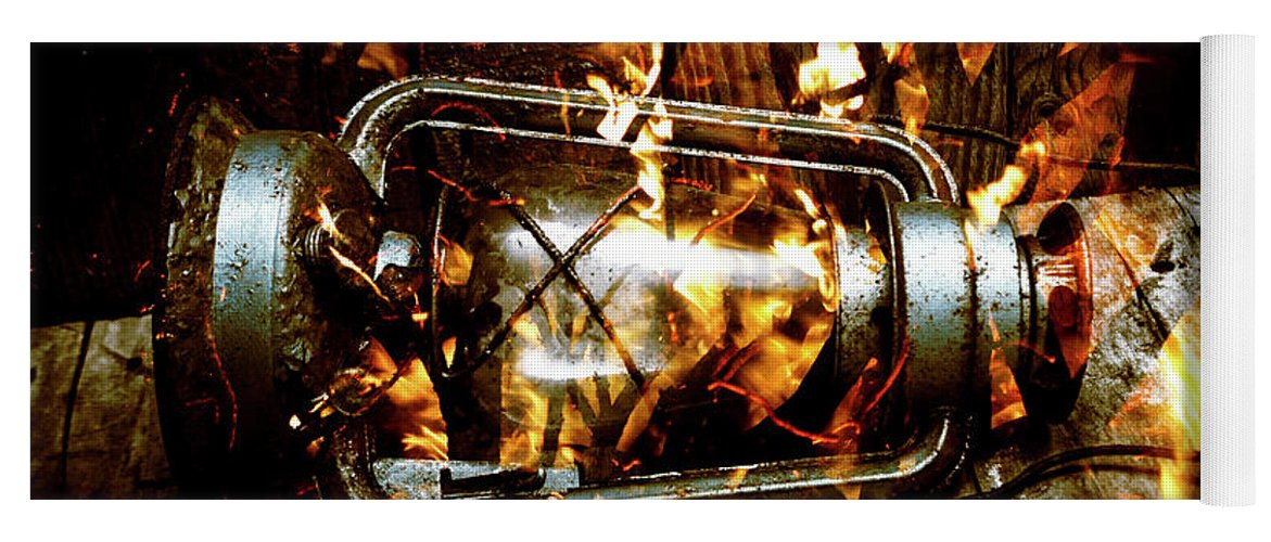 Lantern Yoga Mat featuring the photograph Fire In The Hen House by Jorgo Photography - Wall Art Gallery