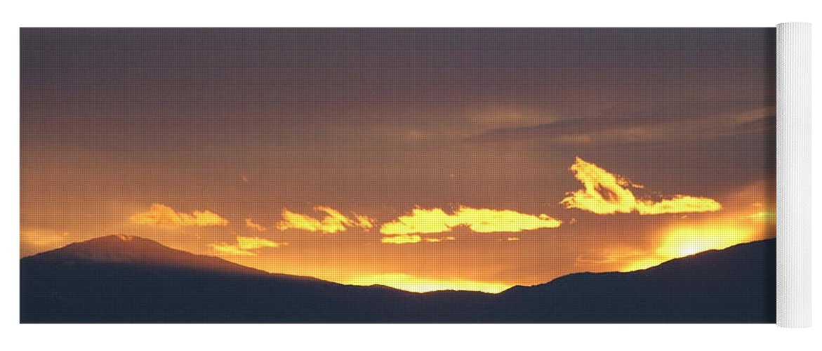 Sunset Yoga Mat featuring the photograph Fire In The Sky by Shari Chavira