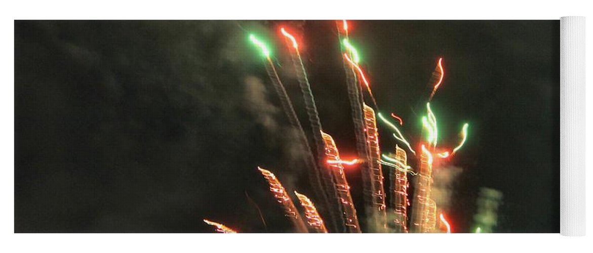 Fireworks Yoga Mat featuring the photograph Fireworks by Debbie Levene