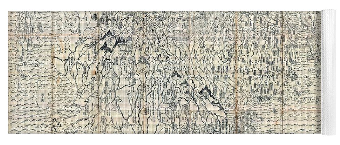 First japanese buddhist world map showing europe america and africa first japanese buddhist world map yoga mat featuring the drawing first japanese buddhist world map showing gumiabroncs Images