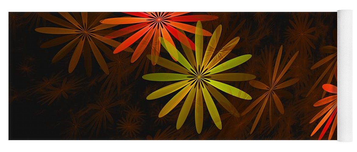 Digital Photography Yoga Mat featuring the digital art Floating Floral-008 by David Lane