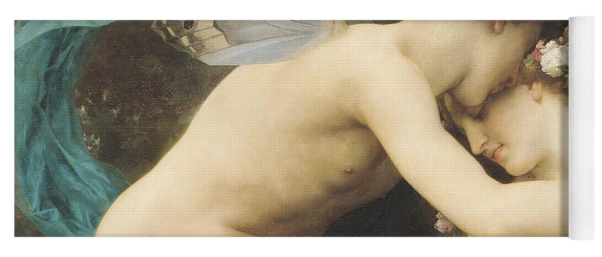 Flora And Zephyr Yoga Mat featuring the painting Flora and Zephyr by William Adolphe Bouguereau