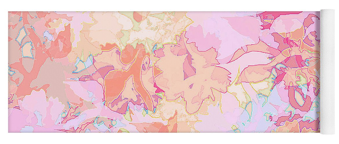 Abstract Yoga Mat featuring the digital art Floral Menagerie by Rachel Christine Nowicki