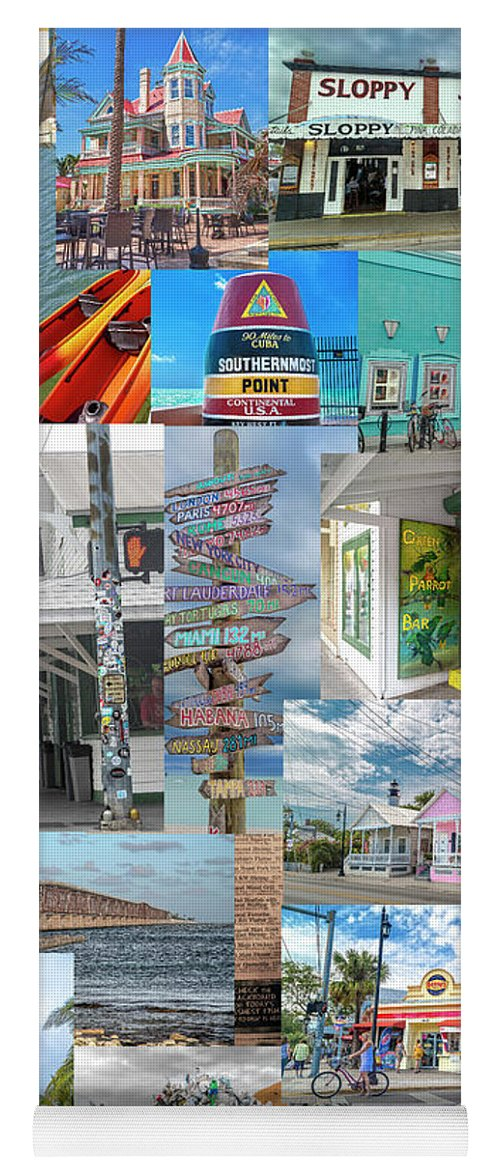 Florida Yoga Mat featuring the photograph Florida Key West Collection by Betsy Knapp