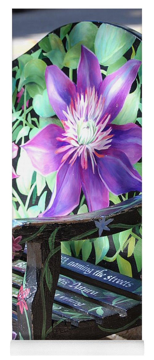 Macro Yoga Mat featuring the photograph Flower Bench by Rob Hans