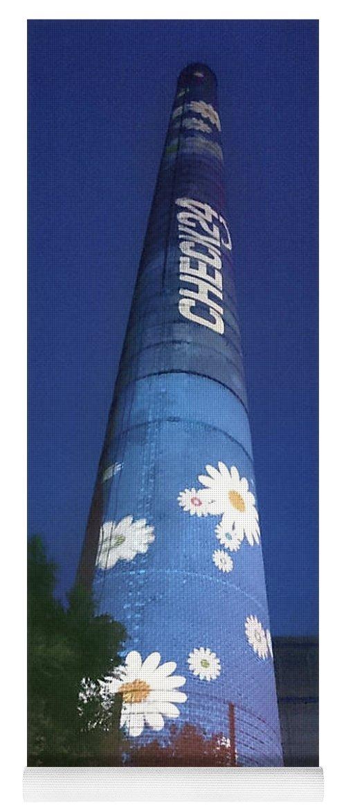 Flower Power Tower Yoga Mat featuring the photograph Flower Power Tower by Heidi Sieber