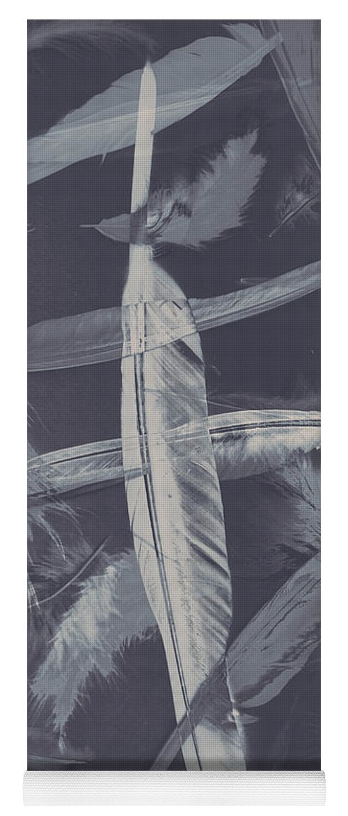 Natural Yoga Mat featuring the photograph Flying Featherabstract Background by Jorgo Photography - Wall Art Gallery
