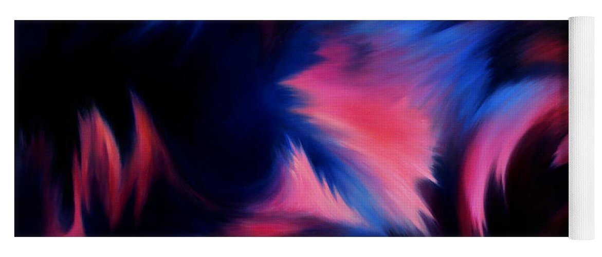 Abstract Yoga Mat featuring the painting Forbidden Words by William Russell Nowicki