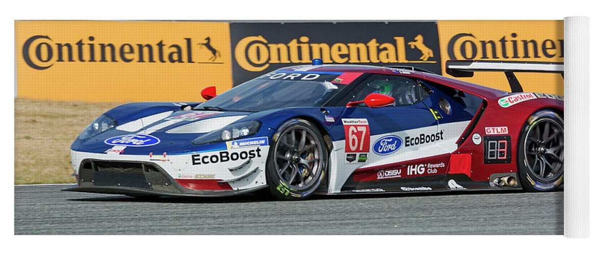 Automobile Yoga Mat Featuring The Photograph Ford Gt Winner Gtlm Class Of The