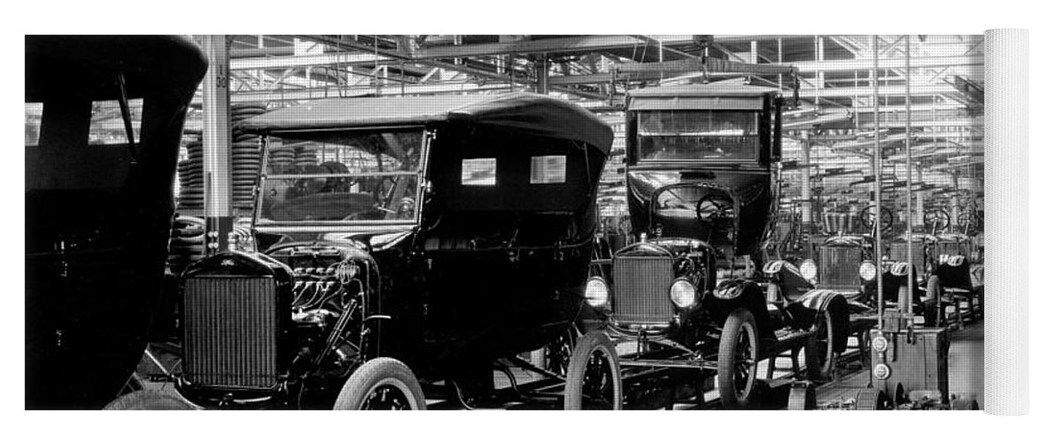 Ford Model T Assembly Line 1920s Yoga Mat For Sale By