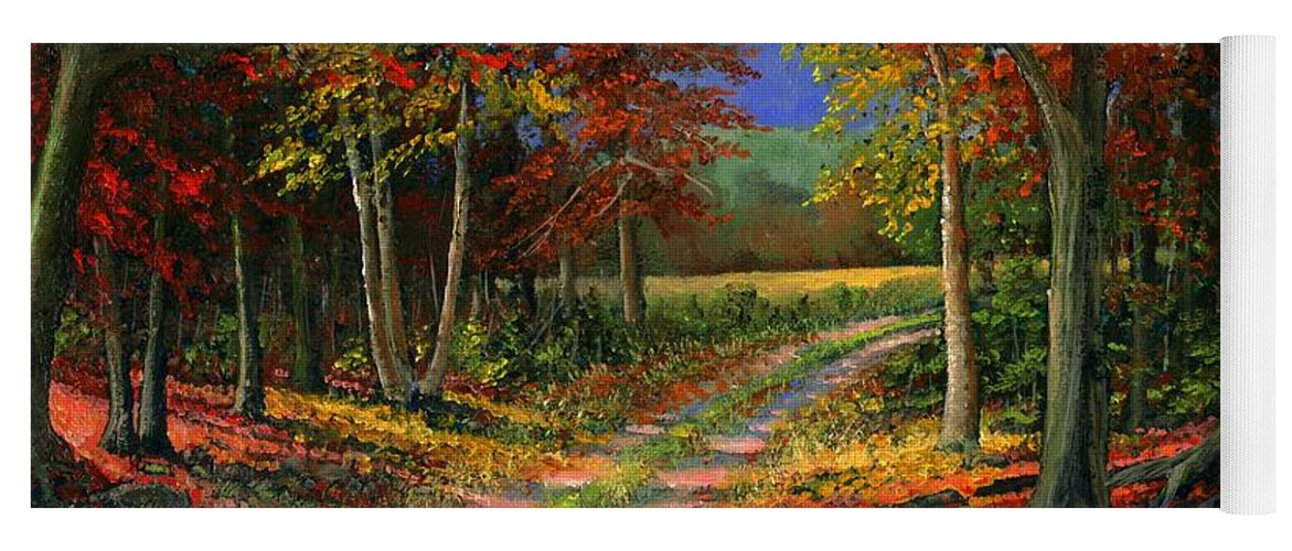 Forgotten Road Yoga Mat featuring the painting Forgotten Road by Frank Wilson