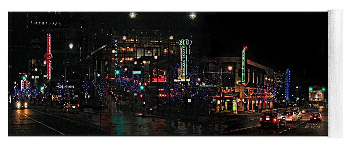 City Scape Yoga Mat featuring the photograph Fourteenth and Main by Steve Karol