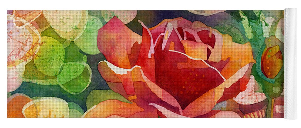 Rose Yoga Mat featuring the painting Fragrant Roses by Hailey E Herrera