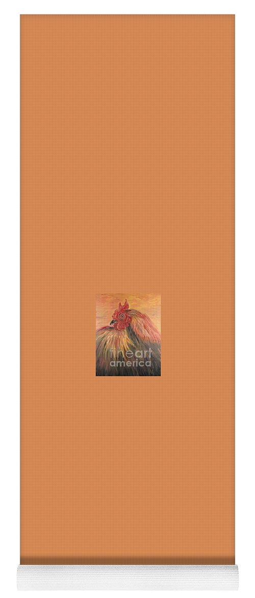 Rooster Yoga Mat featuring the painting French Country Rooster by Nadine Rippelmeyer