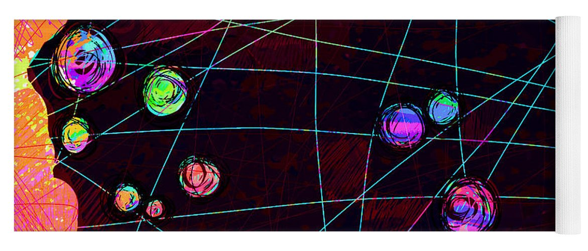 Abstract Yoga Mat featuring the digital art Friends by William Russell Nowicki