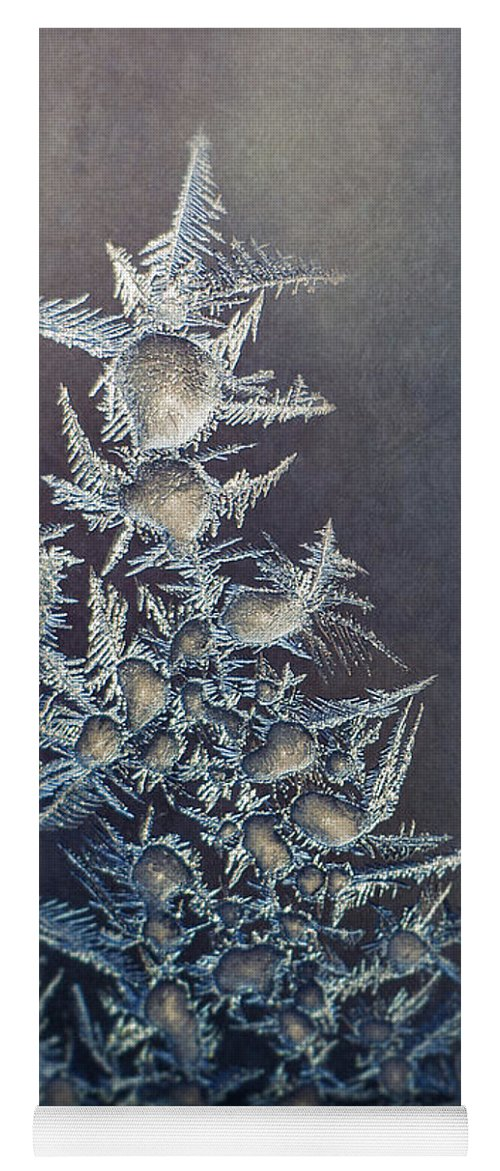 Frozen Yoga Mat featuring the photograph Frost by Scott Norris