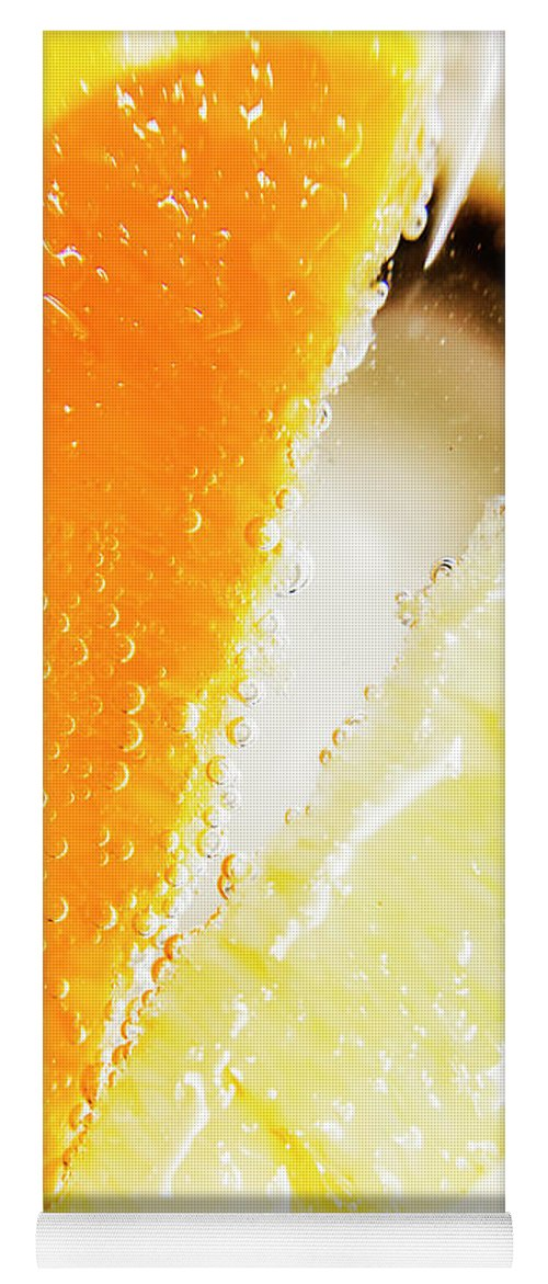 Slice Yoga Mat featuring the photograph Fruity Drinks Macro by Jorgo Photography - Wall Art Gallery