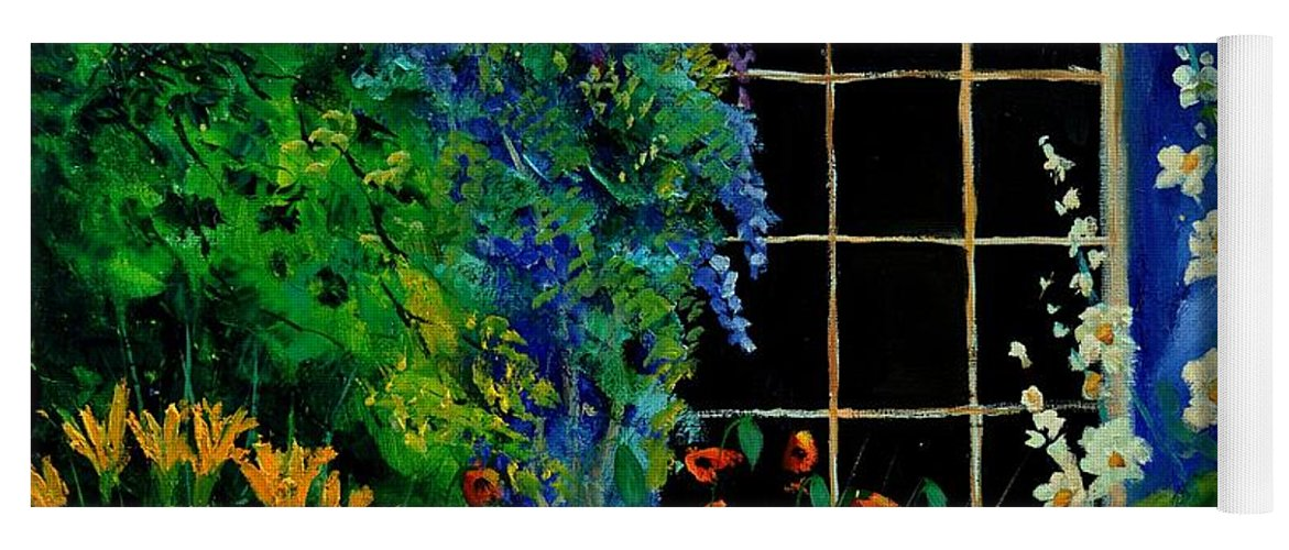 Flowers Yoga Mat featuring the painting Garden 88 by Pol Ledent