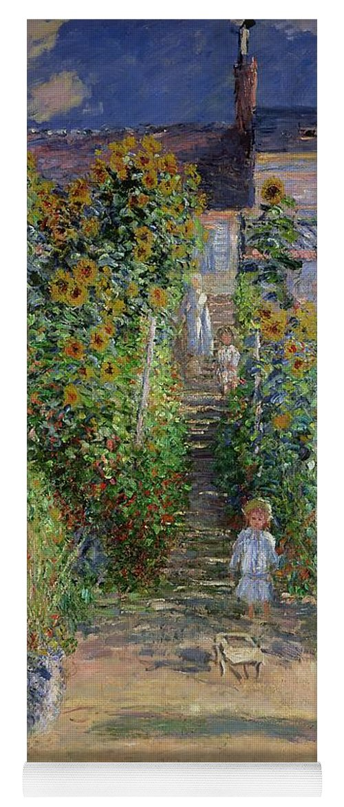 The Artistu0027s Garden At Vetheuil Yoga Mat Featuring The Painting Garden At  Vetheuil By Claude Monet