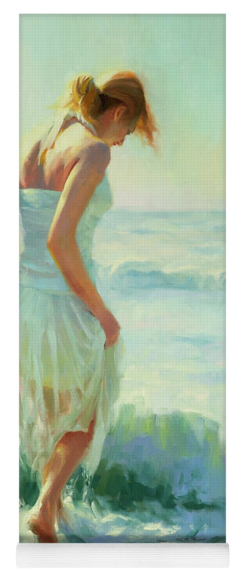 Seashore Yoga Mat featuring the painting Gathering Thoughts by Steve Henderson