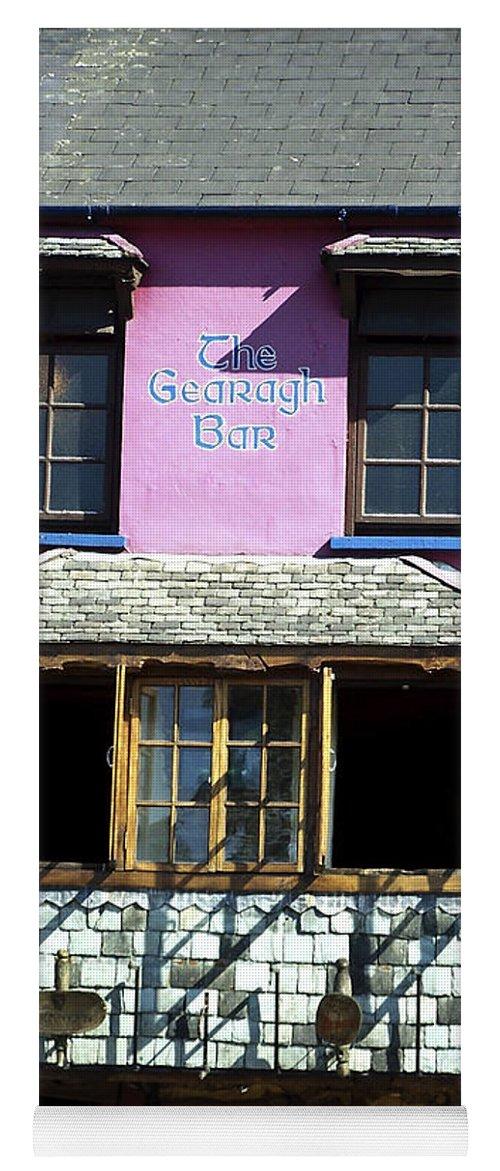 Irish Yoga Mat featuring the photograph Gearagh Pub in Macroom Ireland by Teresa Mucha