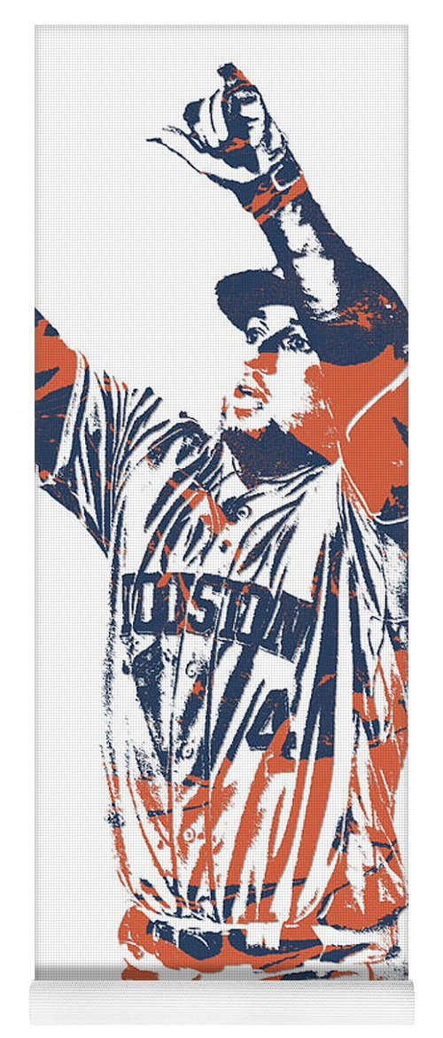 16455debfbe0e1 George Springer Yoga Mat featuring the mixed media George Springer Houston  Astros Pixel Art 31 by