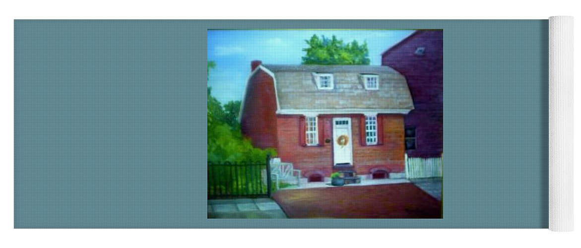 Revell House Yoga Mat featuring the painting Gingerbread House by Sheila Mashaw