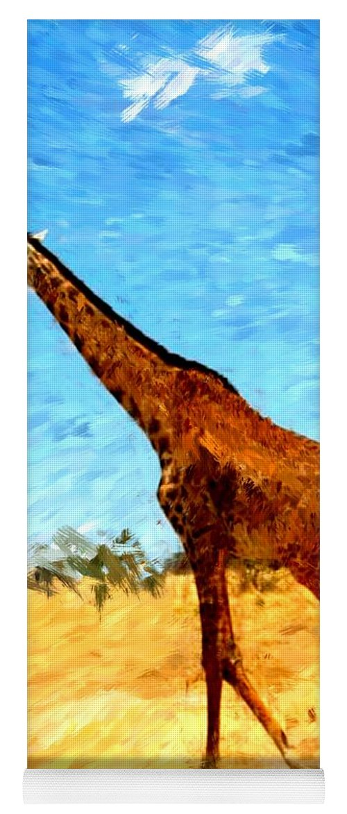 Giraffe Yoga Mat featuring the photograph Giraffe by David Lane