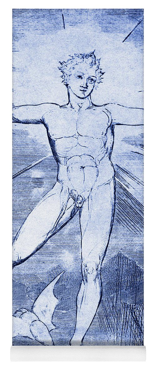William Blake Yoga Mat featuring the drawing Glad Day By William Blake by William Blake