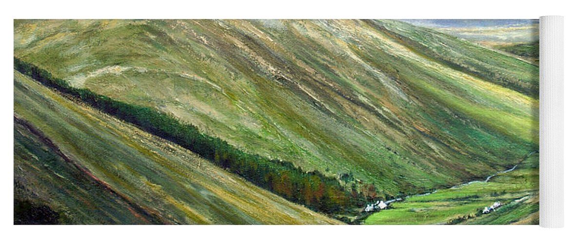 Landscapes Yoga Mat featuring the painting Glen Gesh Ireland by Jim Gola