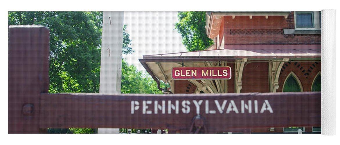 Glen Yoga Mat featuring the photograph Glen Mills Pennsylvania by Bill Cannon