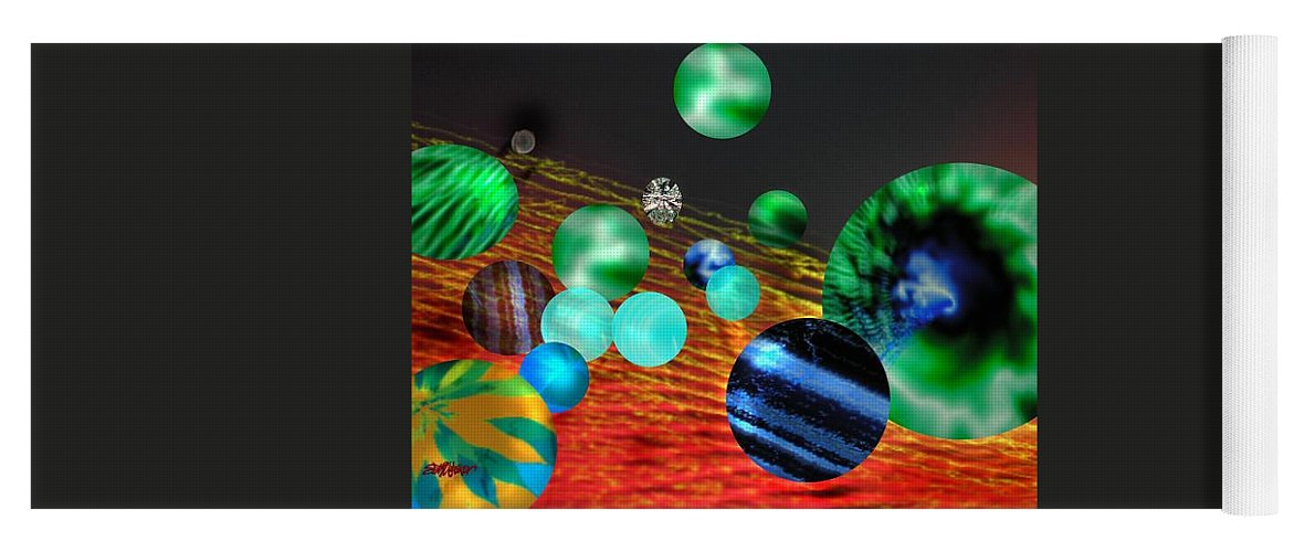 A Tribute To Donovan And His Song cosmic Wheels. A Line In The Song...god Is Playing Marbles With Yoga Mat featuring the digital art God Playing Marbles Tribute To Donovan by Seth Weaver