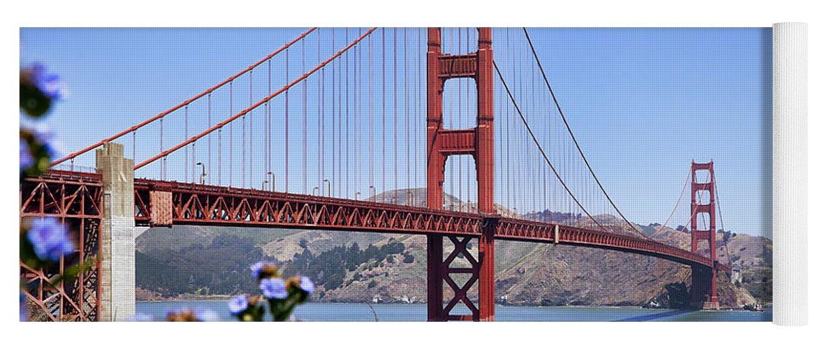 Golden Gate Yoga Mat featuring the photograph Golden Gate by Kelley King