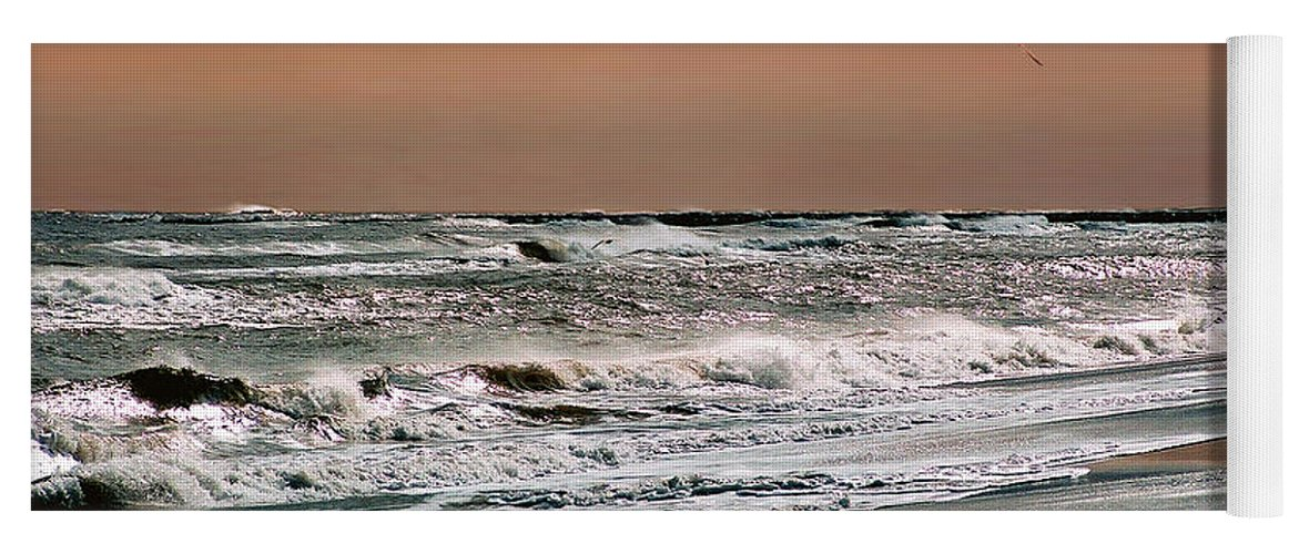 Seascape Yoga Mat featuring the photograph Golden Shore by Steve Karol