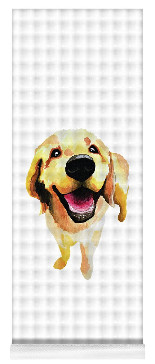 Dog Yoga Mat featuring the painting Good Boy by Amy Giacomelli