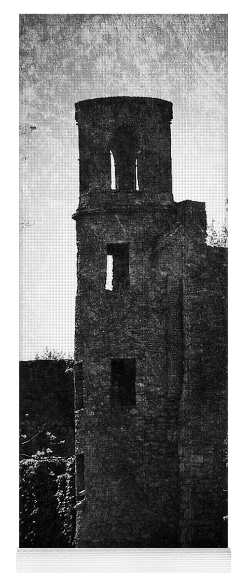 Irish Yoga Mat featuring the photograph Gothic Tower at Blarney Castle Ireland by Teresa Mucha