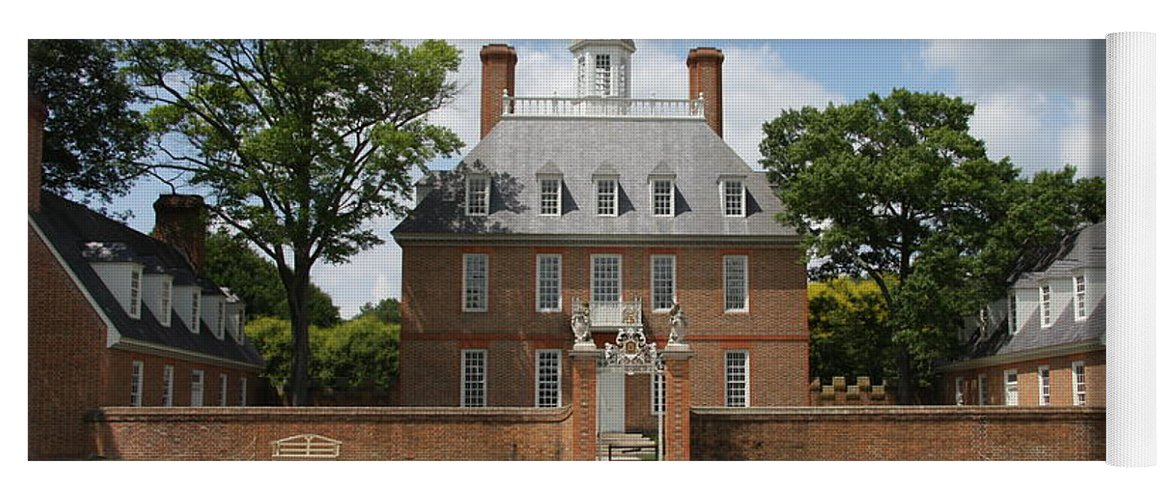 Governer Yoga Mat featuring the photograph Governers Palace - Williamsburg Va by Christiane Schulze Art And Photography