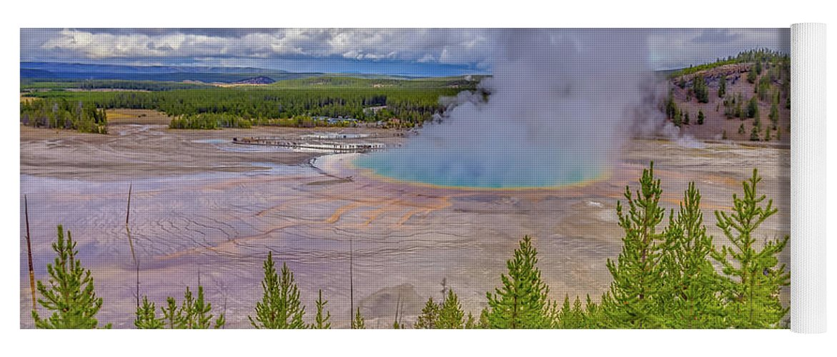 Adventure Yoga Mat featuring the photograph Grand Prismatic Spring Overlook Yellowstone by Scott McGuire