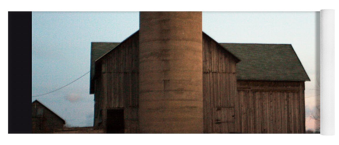 Barn Yoga Mat featuring the photograph Grazing At Dawn by Tim Nyberg