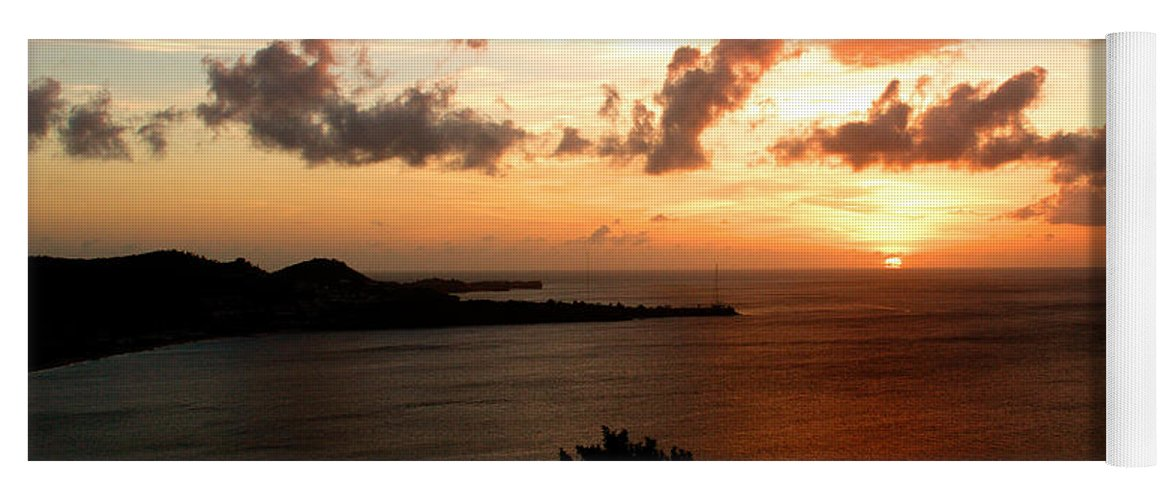 Sunset Yoga Mat featuring the photograph Grenadian Sunset II by Jean Macaluso