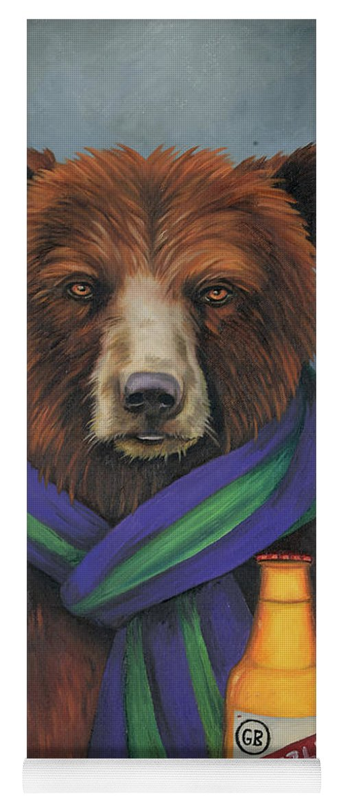 grizzly beer yoga mat for saleleah saulnier the painting maniac
